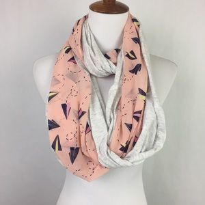 AEO Aerie Paper Airplane Infinity Scarf OS